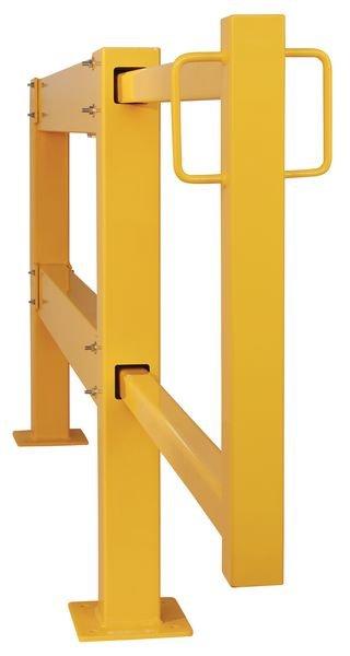 Porte coulissante pour barrière en acier