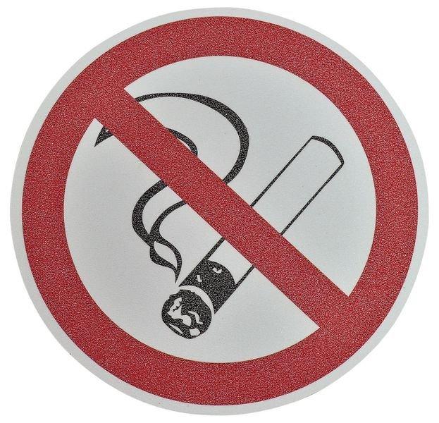"""Pictogramme antidérapant au sol """"Interdiction de fumer"""""""