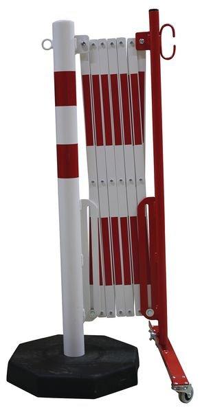 Barrières extensibles sur pied mobile pour entrepôt