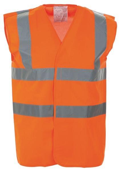 Gilets de sécurité fluo vierges avec ceintures et bretelles rétroréfléchssantes
