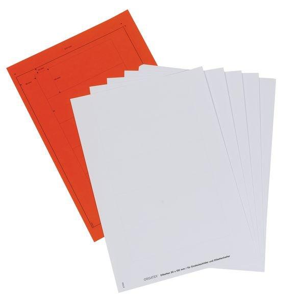 Etiquettes pour porte-étiquettes magnétiques colorés