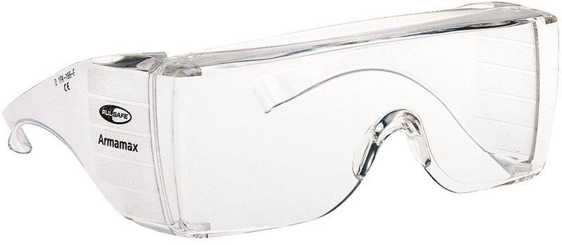 Sur-lunettes avec parties latérales en verre dépoli anti-reflets