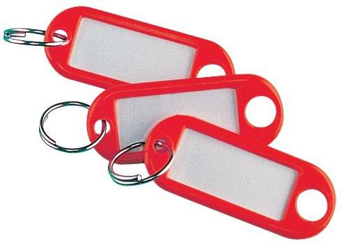 Porte-clés étiquettes en plastique colorés