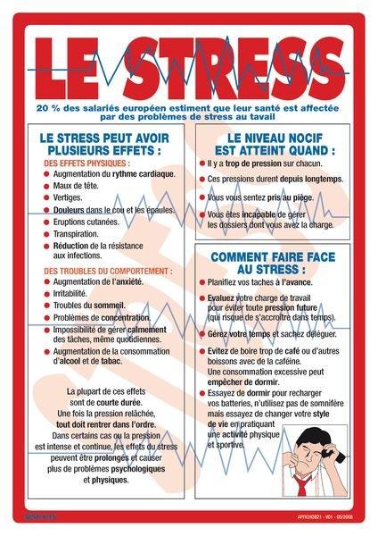 Affichage obligatoire sur le stress au travail