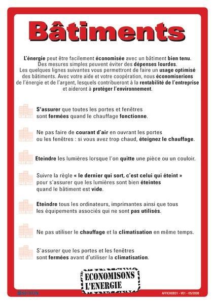 Affiche pour la protection de l'environnement sur les bâtiments