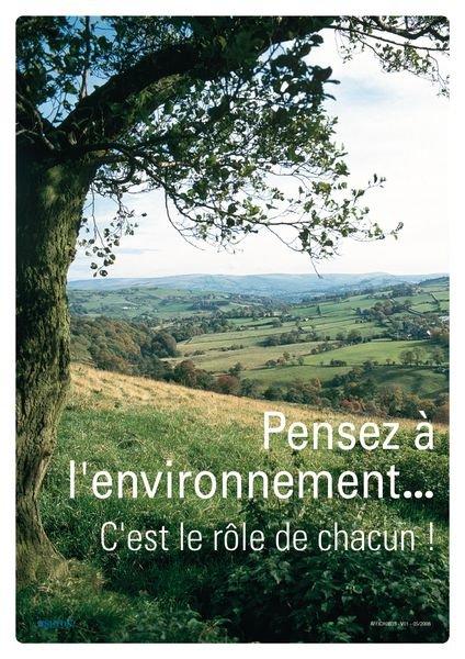 Affiche - Pensez à l'environnement c'est le rôle de chacun!