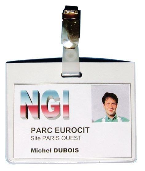 Porte-badge semi-rigide avec dos opaque blanc