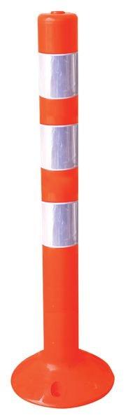 Balise de signalisation en PVC souple rétro-réfléchissante
