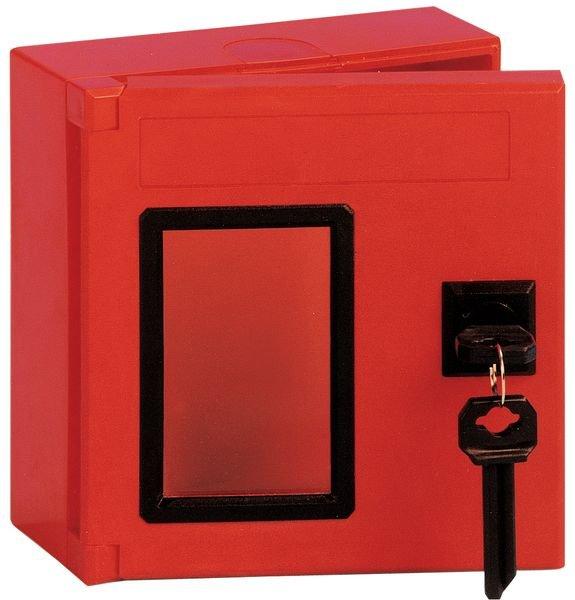 Boîte à clé de secours carrée en ABS