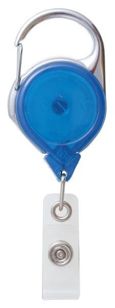 Porte-badge enrouleur zip avec mousqueton
