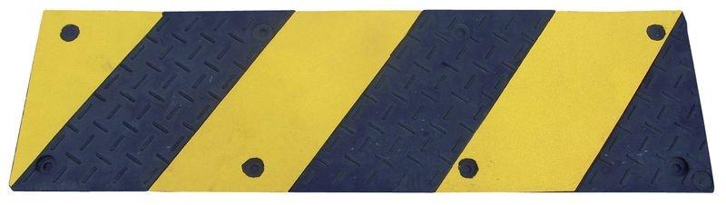 Marquage au sol pour porte automatique en caoutchouc noir et jaune