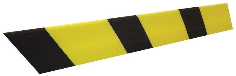 Cornière de protection en mousse de polyéthylène noire et jaune