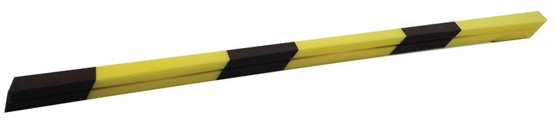 Butoir de protection pour arêtes en mousse de polyéthylène noire et jaune