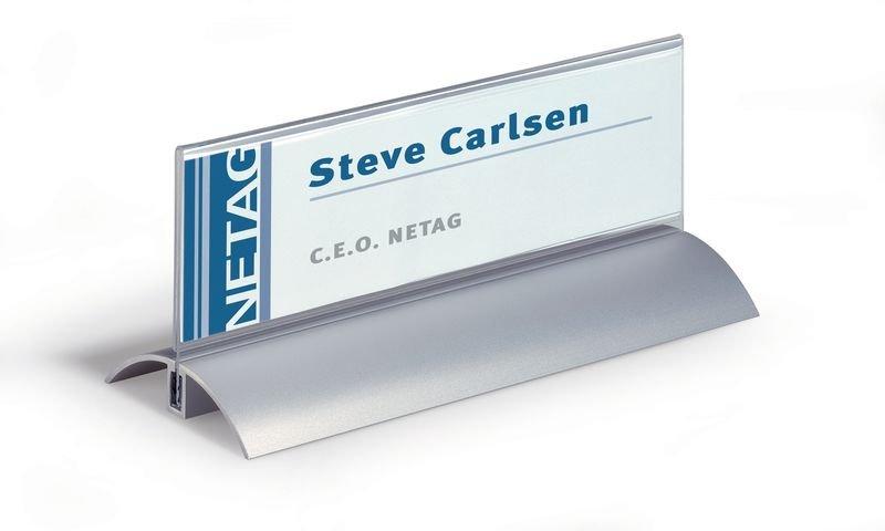 Porte nom avec base aluminium