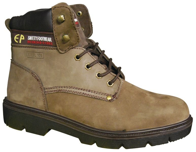 Chaussures de sécurité en cuir nubuck imperméable et antistatiques, classe S3