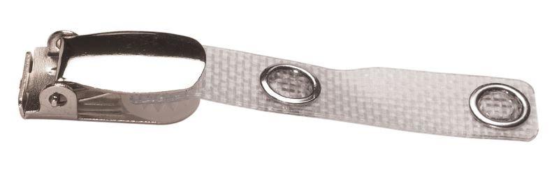 Pince clip pour badge avec lanière renforcée
