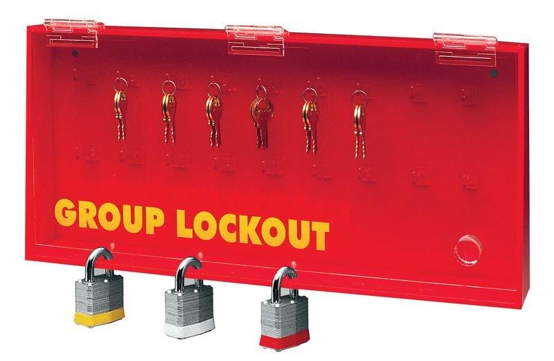 Armoire à clés vitrée sécurisée par cadenas