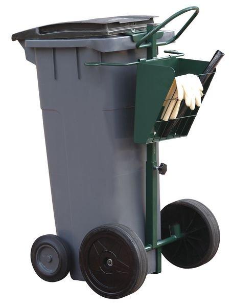 Chariot de voirie pour conteneur plastique