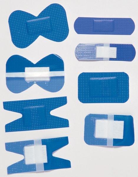 Pansements détectables articulaires bleus