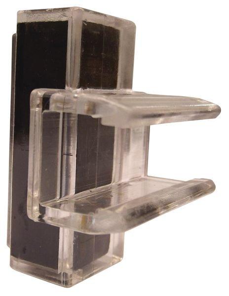 Fixations en plastique transparent pour porte-affiches