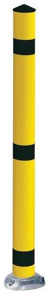Poteau de sécurité flexible en aluminium noir et jaune
