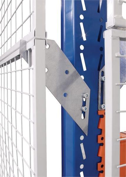 Console latérale pour grille de rayonnage anti-chute