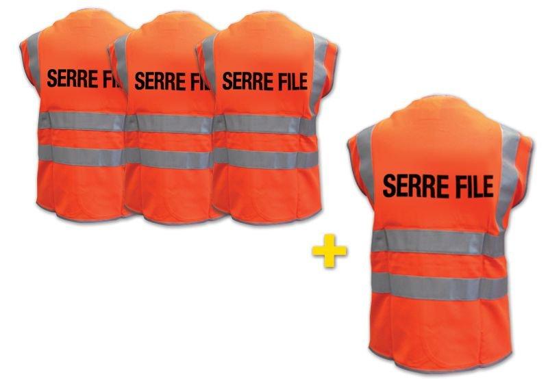 Lot de 4 gilets de sécurité (3+1 gratuit)