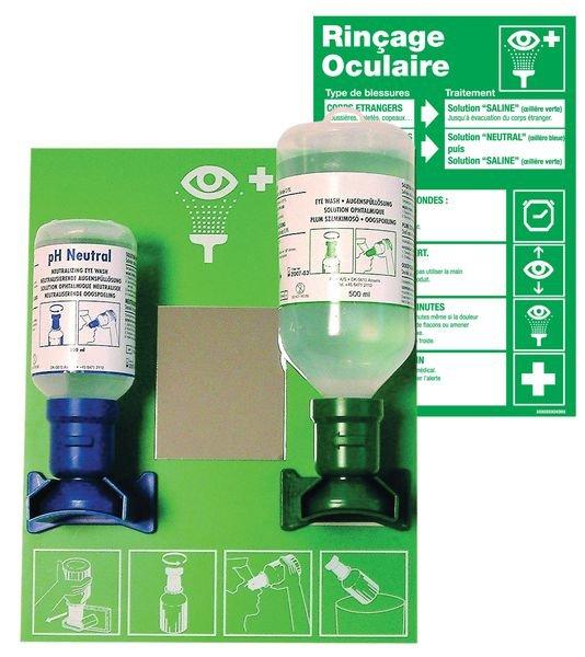 Prix Spécial - Kit de premiers secours rinçage oculaire et consignes d'utilisation