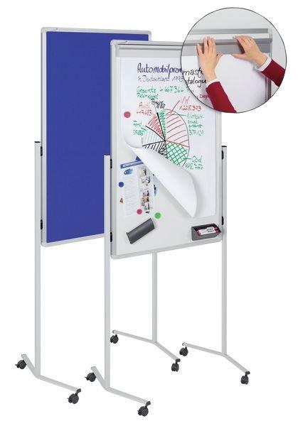 Tableau 3 en 1: tableau blanc magnétique, d'affichage et de conférence