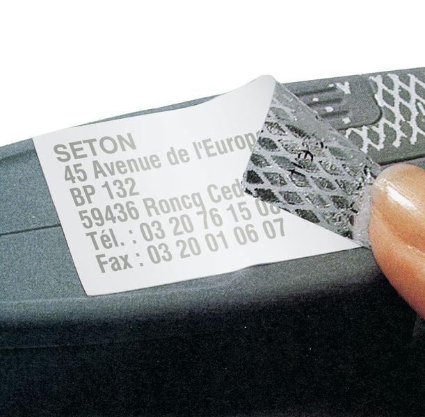Etiquettes à damier pour imprimante laser