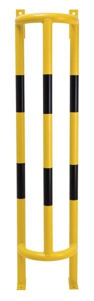 Arceaux verticaux jaune/noir en acier pour protection de tuyaux