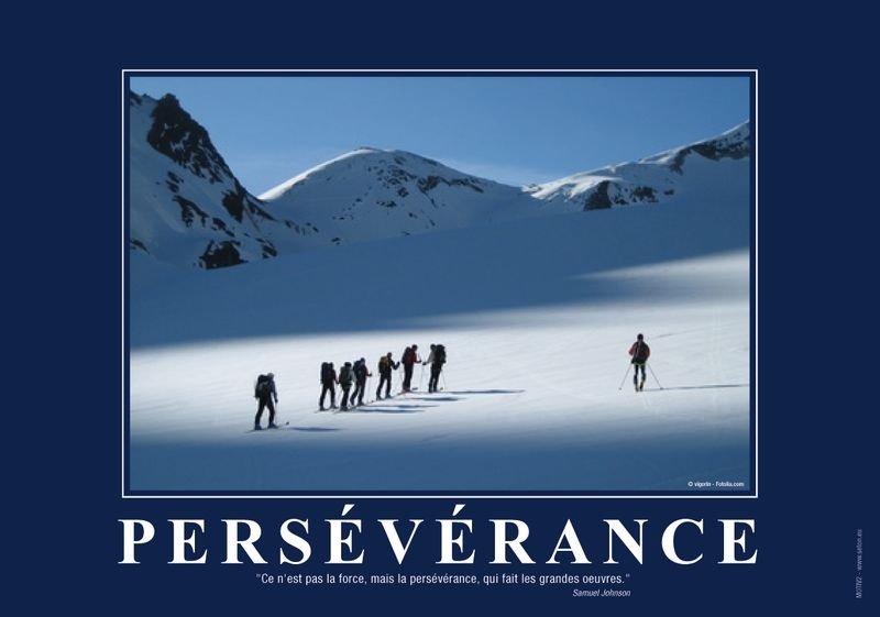 Poster de motivation format A3 plastifié: la Persévérance