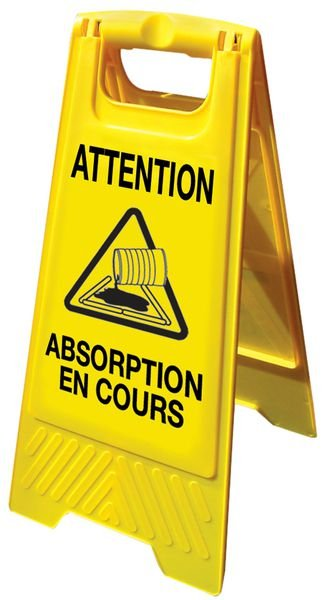Chevalet de signalisation grande stabilité - Attention Absorption en cours