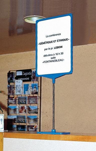 Porte-affiches à cadre coloré sur pied télescopique