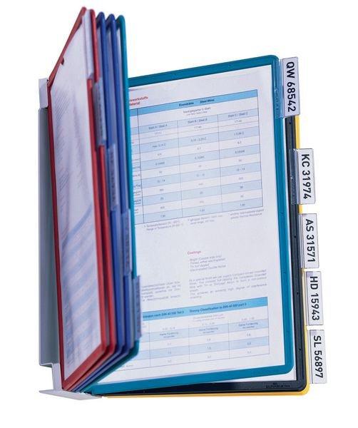 Supports muraux métalliques protège-documents avec pochettes