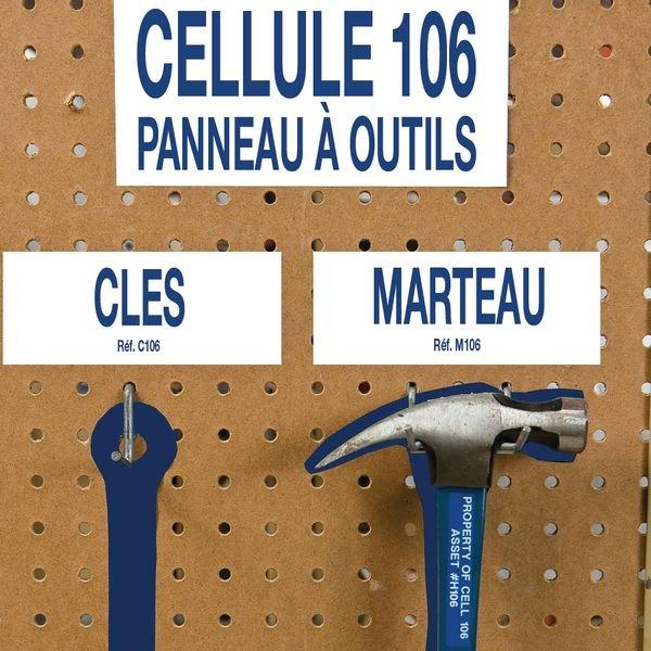 Panneau perforé et accessoires rangement des outils - LEAN