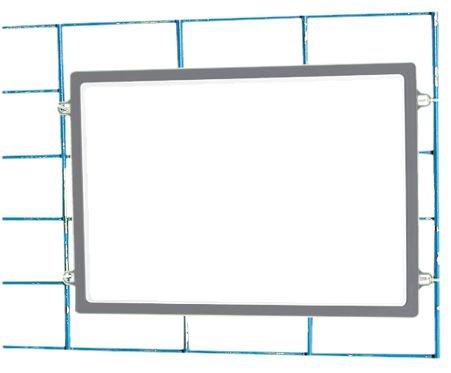 Porte-affiches à suspendre avec cadre coloré de format A4