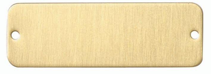 Plaques de firme vierges - Aluminium, laiton ou acier inoxydable