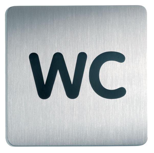 Panneau d'information design carré - WC