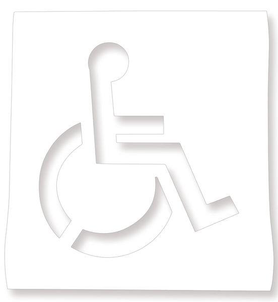 """Pochoir synthétique pour marquage au sol """"Chaise roulante"""""""