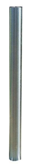 Poteaux de voirie en inox à tête ronde, plate ou pyramidale