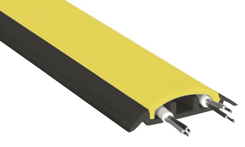 Protège-câbles d'intérieur 2 pièces en caoutchouc semi-rigide