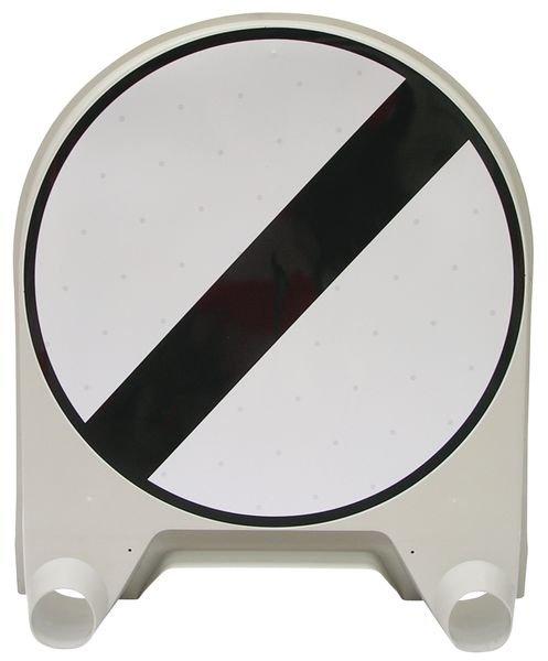 """Panneau de signalisation temporaire en polypropylène """"Fin à toutes les interdictions précédemment signalées"""""""