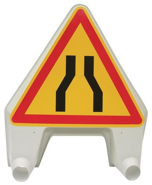 """Panneau de signalisation temporaire en polypropylène """"Chaussée rétrécie"""""""