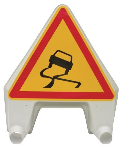 """Panneau de signalisation temporaire en polypropylène """"Chaussée glissante"""""""