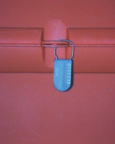Scellé cadenas en polypropylène avec crochet en acier