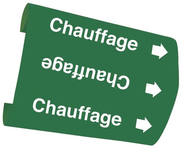 "Marqueurs de tuyauteries Snap-On ""Chauffage"" (Eau)"
