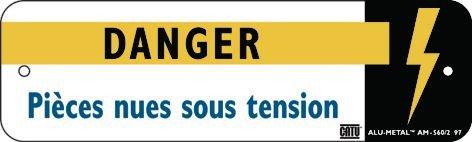 """Panneau Alumetal™ """"Danger électricité - Danger Pièces nues sous tension"""""""
