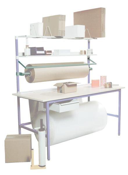 Système dérouleur et coupe de papier horizontal pour table TABEM