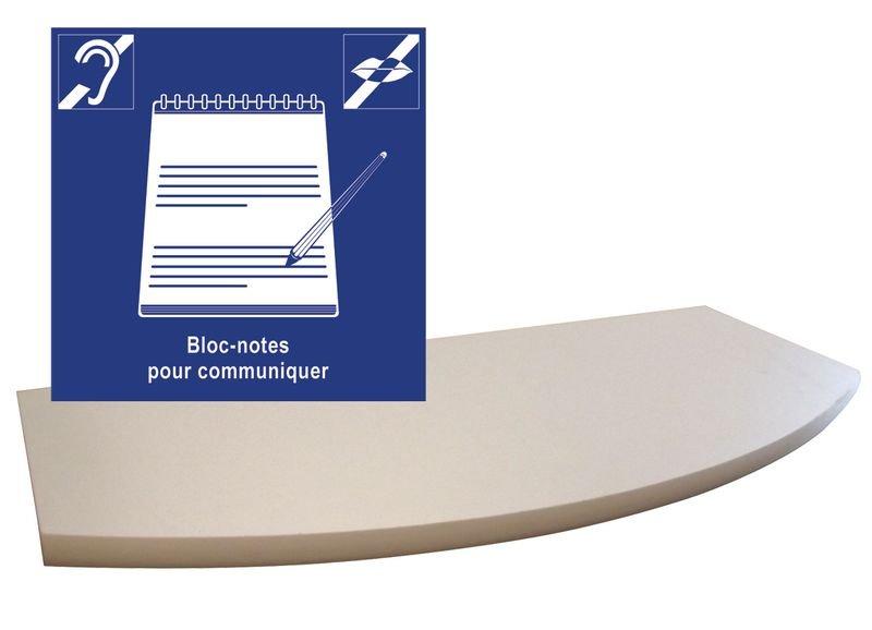 """Kit pictogramme """"Bloc-notes pour communiquer"""" et tablette murale"""